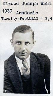 1928 Newtown game - Elwood Wahl
