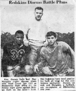 1950_10_26 Coach Jim Egli and Captains Doresy and Mongillo