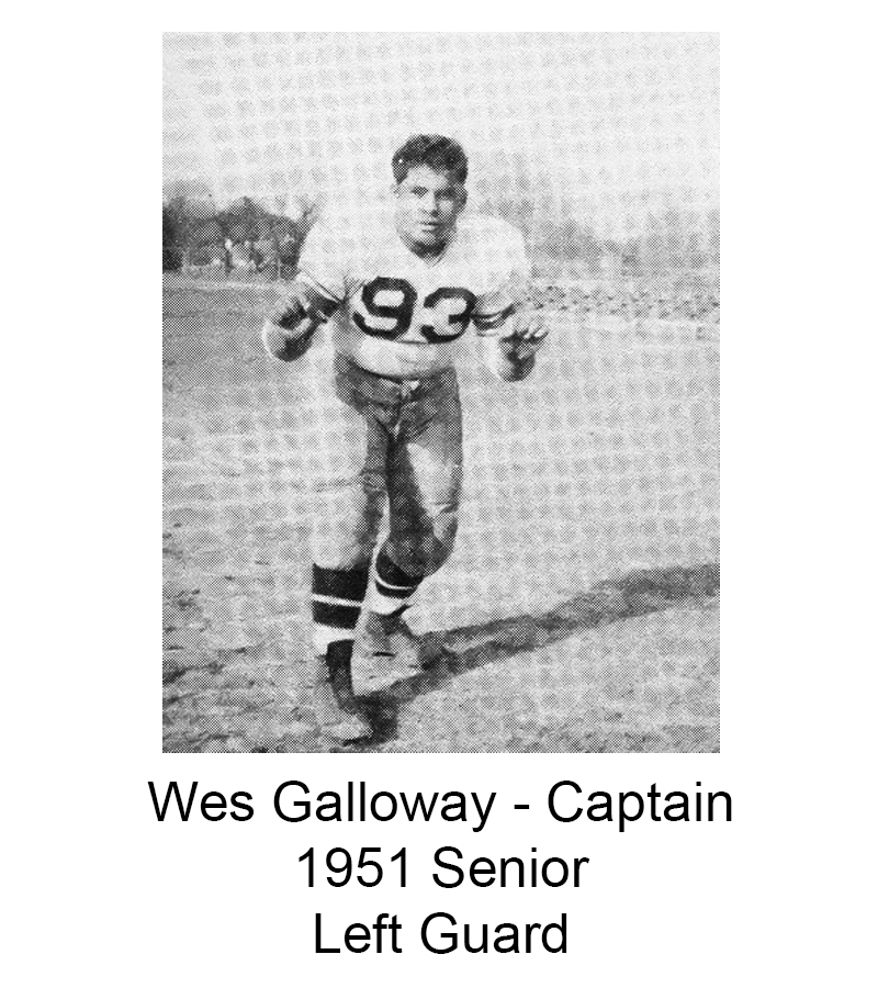 1951 Senior Wes Galloway