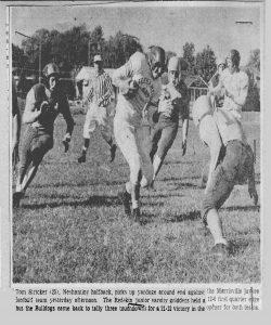 1956 Junior Varsity Action Shot Tom Stricker