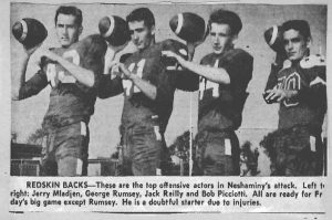 1956 Redskin Backs