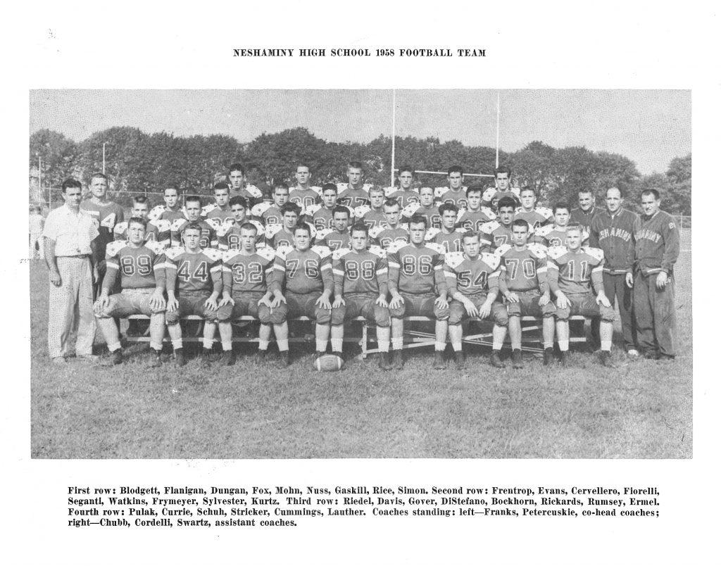 1958 Neshaminy Redskins