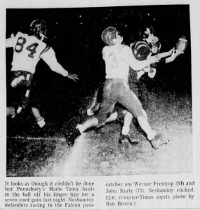 1958_10_17 Pennsbury Game Action Shot