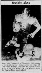 1958_11_7 Morrisville Game action Shot Jim Flanigan