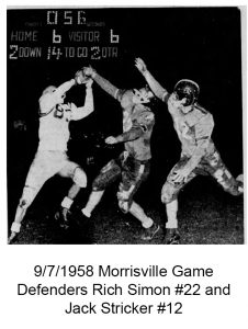1958_9_7 Morrisville Game Rich Simon and Jack Stricker