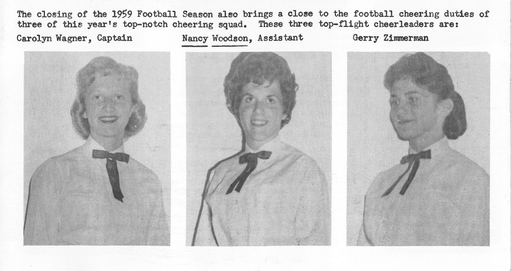 1959 Cheer Team Captains