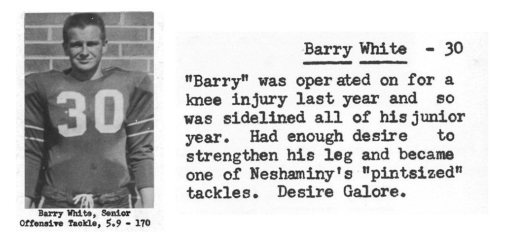 1959 Senior Barry White Senior Bio