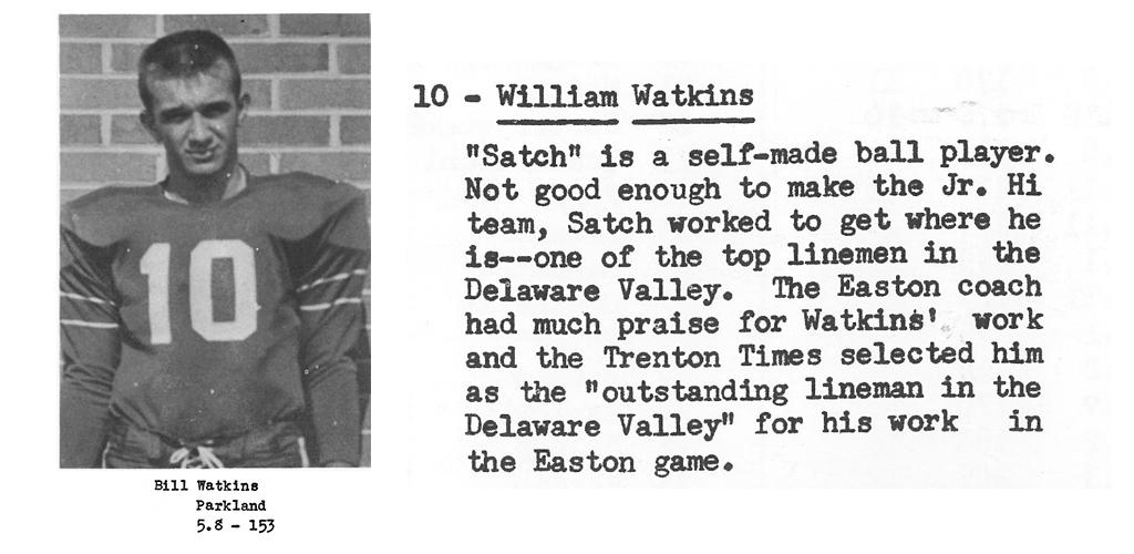 1959 Senior Bill Watkins Senior Bio