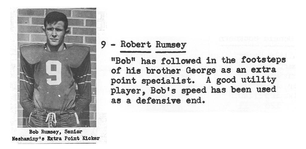 1959 Senior Bob Rumsey Senior Bio