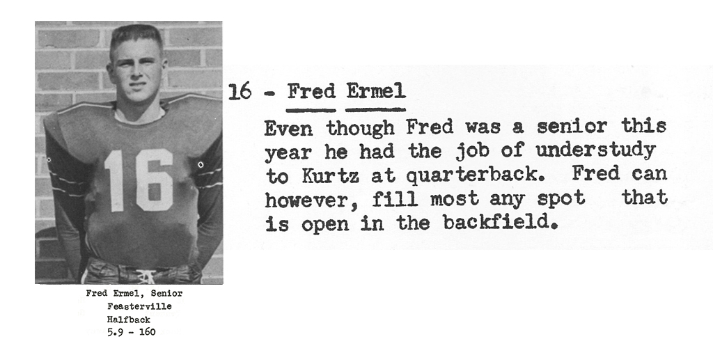 1959 Senior Fred Ermil Senior Bio