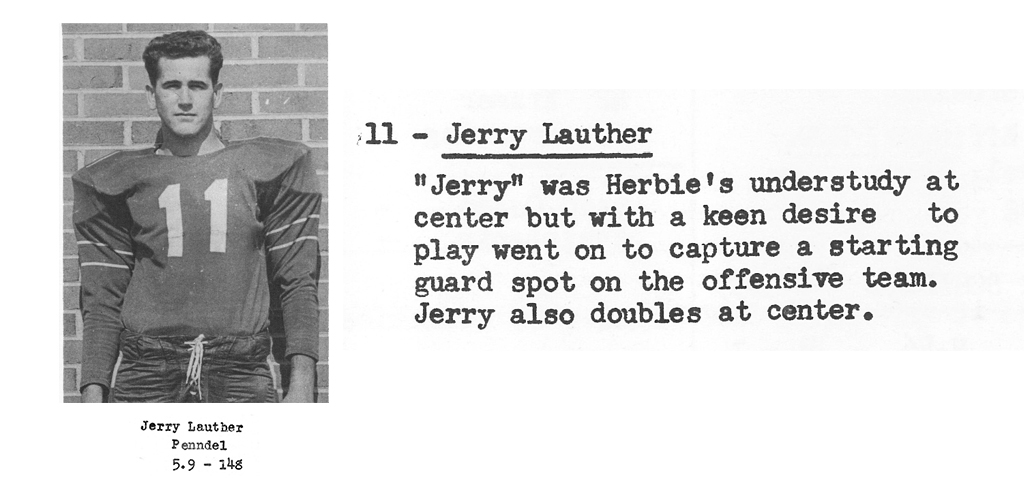 1959 Senior Jerry Lauther Senior Bio