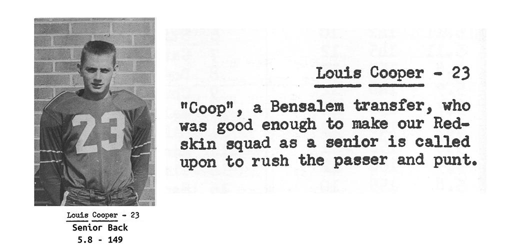 1959 Senior Lou Cooper Senior Bio