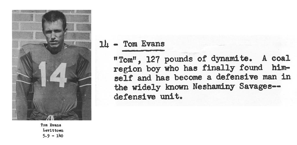 1959 Senior Tom Evans Senior Bio
