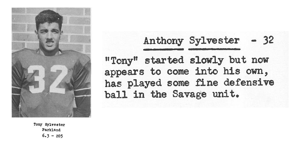 1959 Senior Tony Sylvester Senior Bio