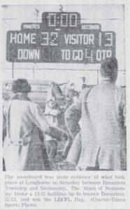 1960 Bensalem Game Scoreboard