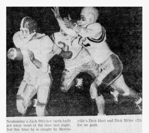 1960_10_15 Morrisville game Jack Stricker