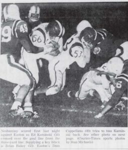 1961 Easton Game Ed Kaminski and Brian Baker