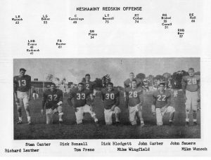 1961 Neshaminy Redskin Offensive Unit