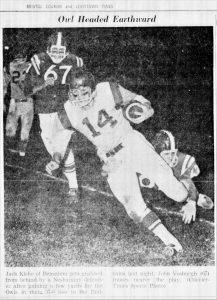 1962 Bensalem Game John Vosburgh