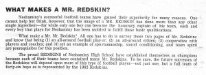 1962 What makes a Mr Redskin