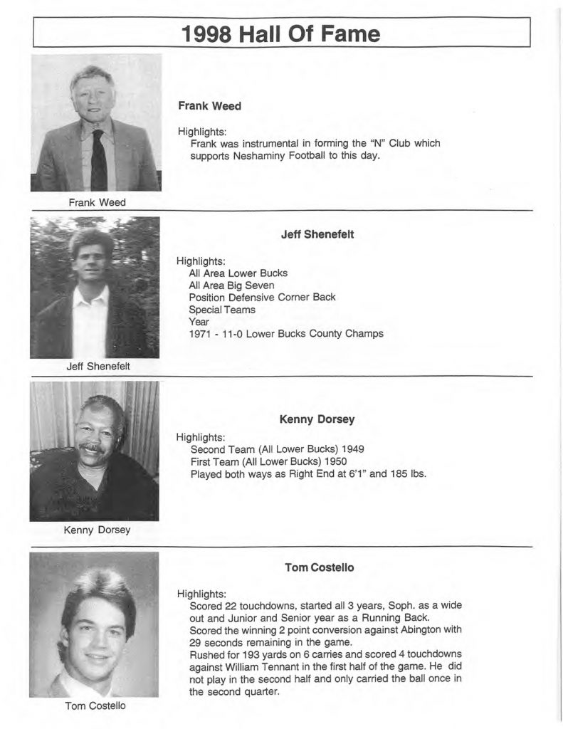 1998 Hall of Fame Inductees