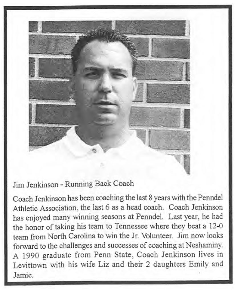 1999 Coach Jim Jenkinson