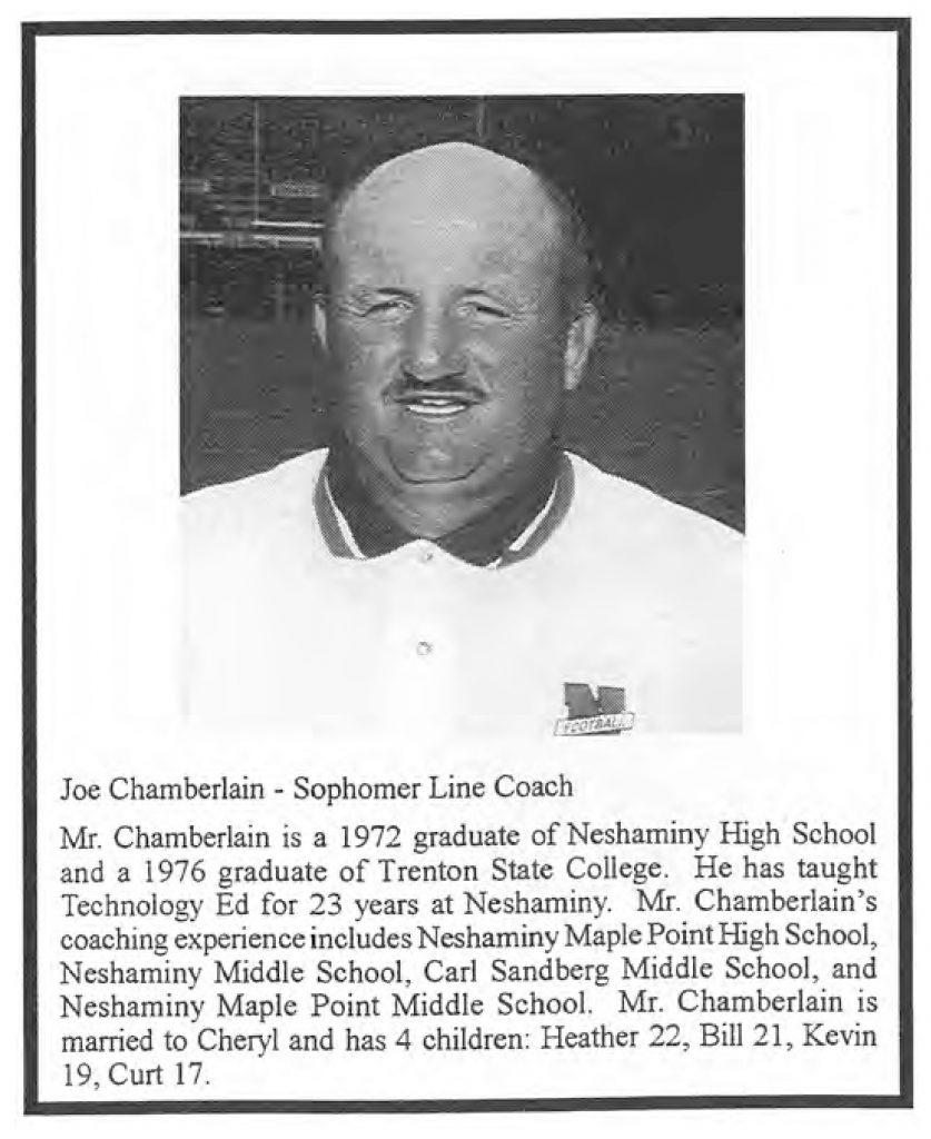 1999 Coach Joe Chamberlain