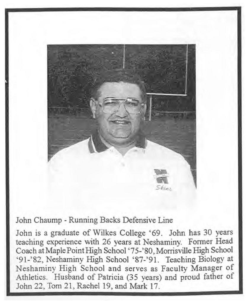 1999 Coach John Chaump