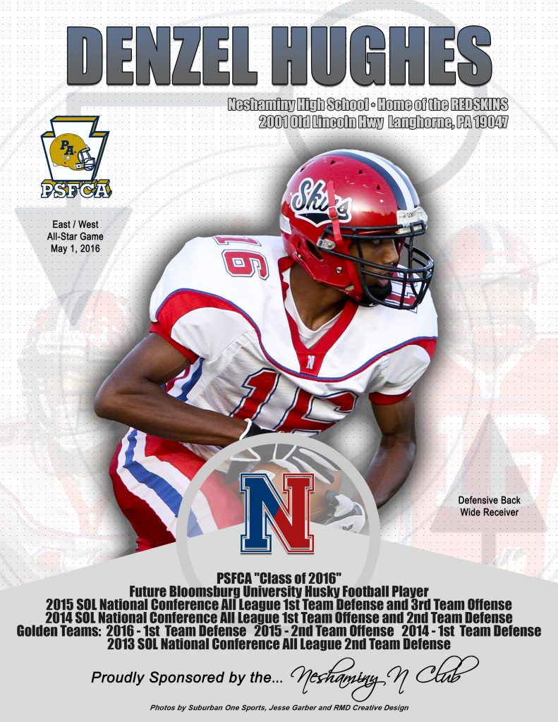 2015 Season Denzel Hughes Neshaminy High School 2016 EW Game