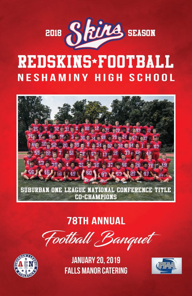 2018 Season Banquet Booklet Cover