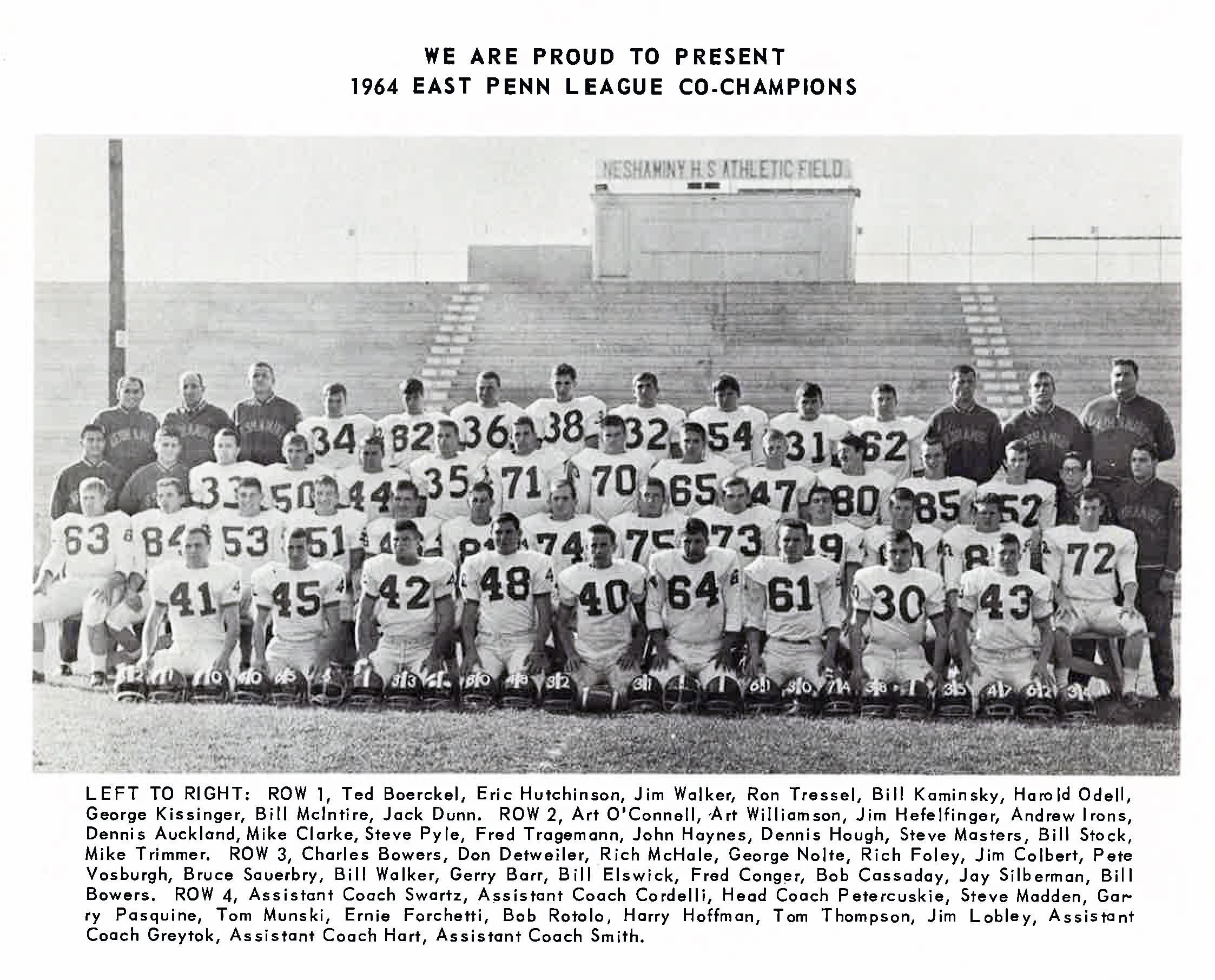1964 Nehaminy Redskins