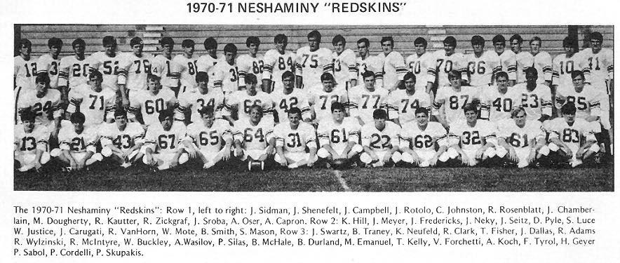 1970 Neshaminy Redskins