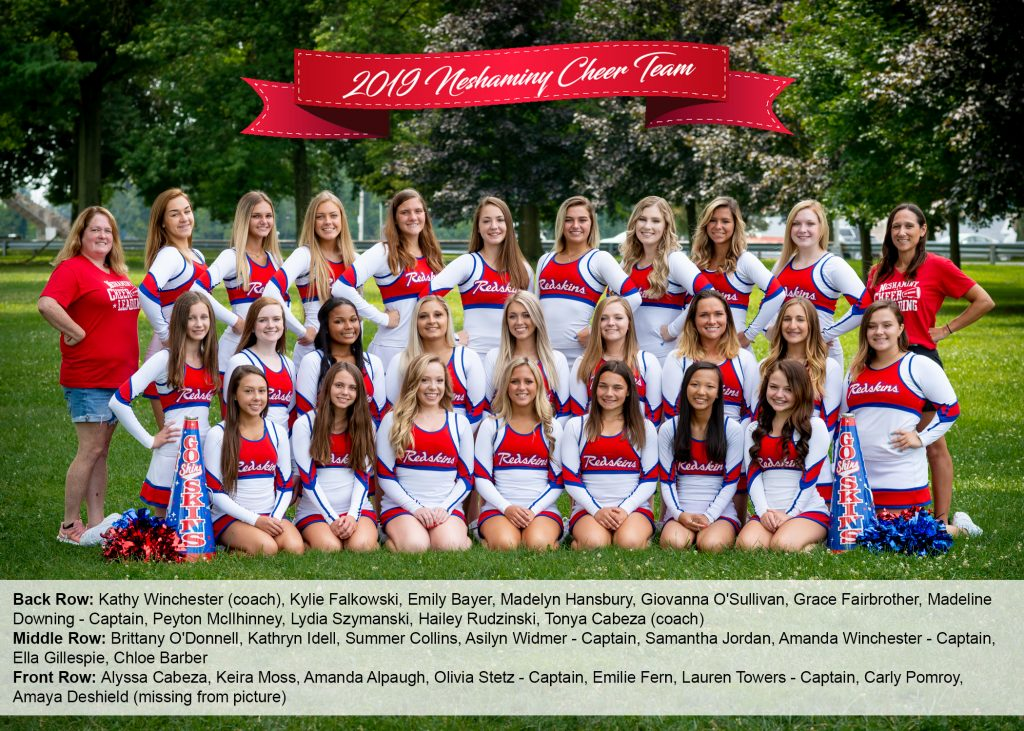 2019 Cheer Team with names