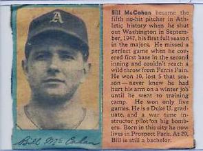Class of 1939 Bill McCahan Duke Univ. Philadelphia Athletics