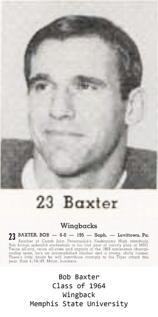 Class of 1964 Baxter_Bob Memphis State University