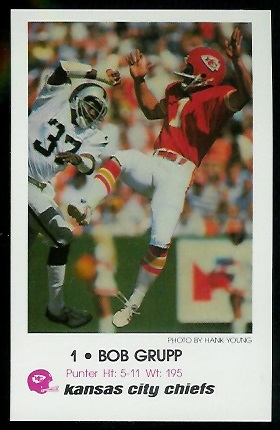 Class of 1973 Bobby Grupp Duke Univeresity KC Chiefs