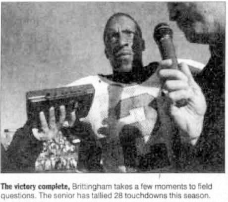 2001_12_03 CValley Jamar Brittingham post game interview