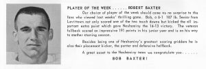 1963 Bob Baxter Player of the Week