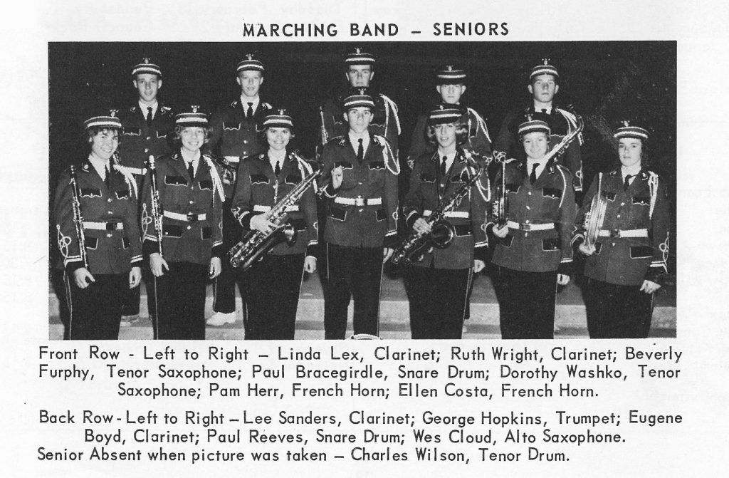 1963 Marching Band Seniors