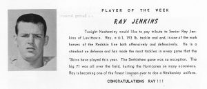 1963 Ray Jenkins Player of the Week