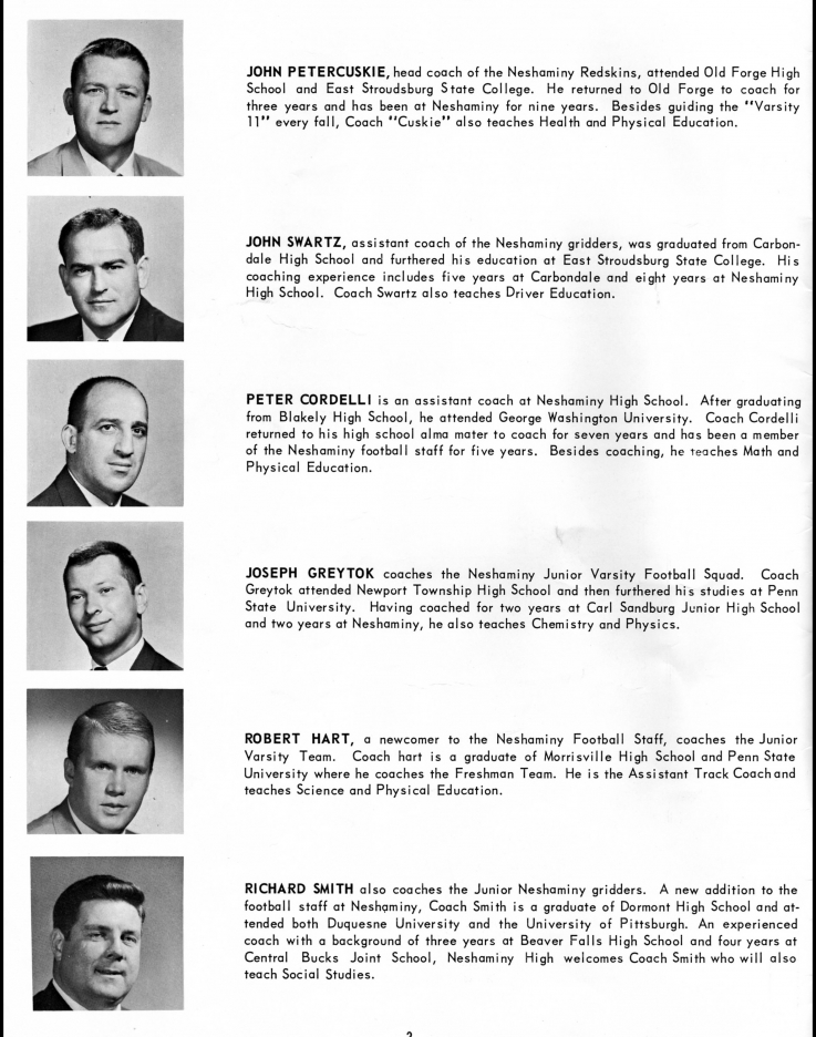 1963 coaching staff bios