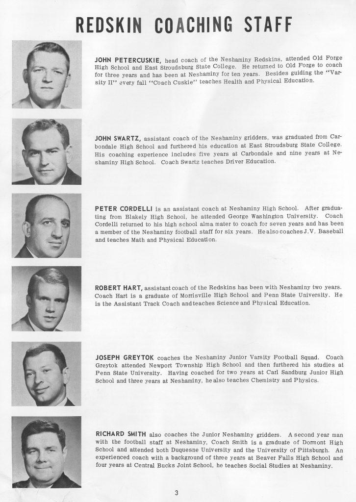 1964 Coaching Staff