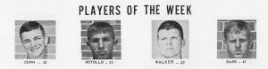 1964 Players of the Week