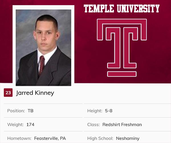 Class of 2006 Jarred Kinney Temple University