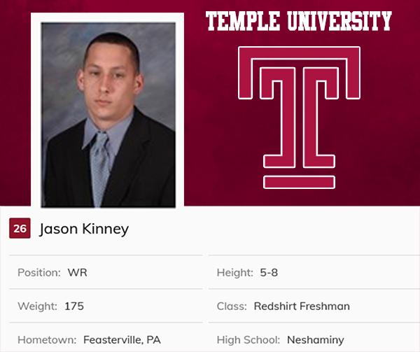 Class of 2006 Jason Kinney Temple University