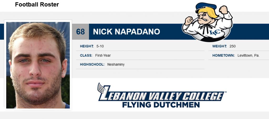 Class of 20118 Nick Napadano Lebanon Valley College