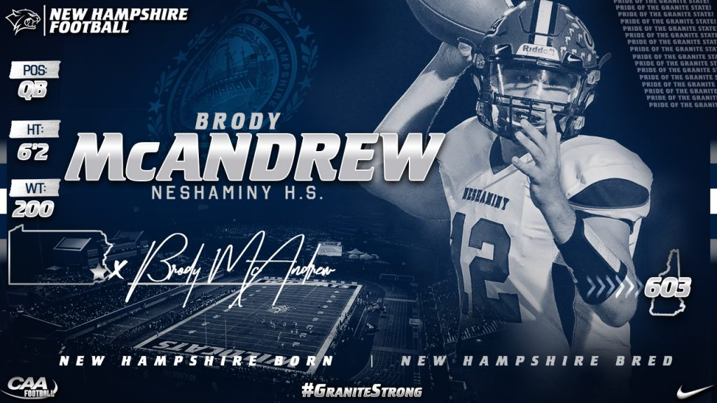 Class of 2020 Brody McAndrew UNH