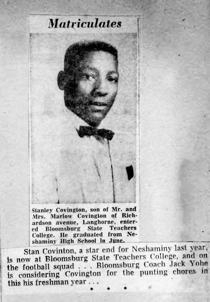 Class of 1955 Stan Covington Bloomsberg