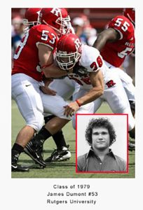 Class of 1979 Jim Dumont #53 Rutgers University