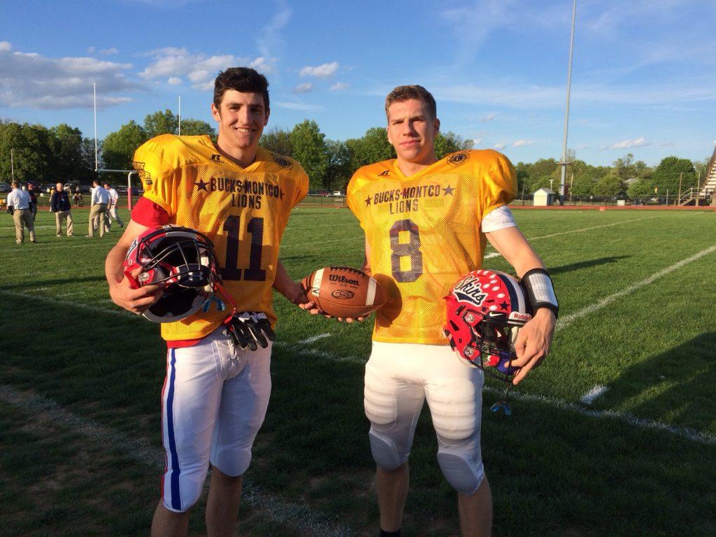 Mason Jones and Zach Tredway at Bucks Montco game 05082017
